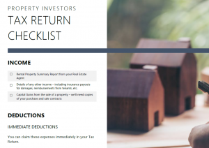 Property Investors Tax Checklist